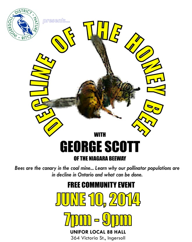 (EVENT NOTICE) Decline of the Honey Bee - June 10